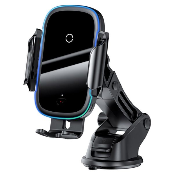 Baseus automatyczny elektryczny uchwyt samochodowy bezprzewodowa ładowarka Qi 15W